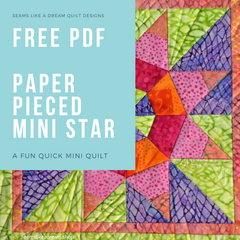Mini Star Quilt - a free pattern