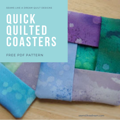 Free pattern quickie quilted coaster
