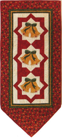 Belle Noelle- Christmas wall hanging pieced blocks with appliqué bells