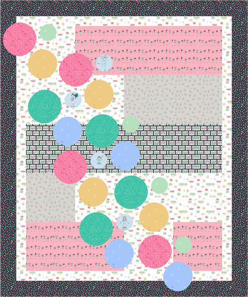 Bubbles quilt in Applause fabric by Sandra Clemons