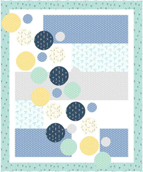 Bubbles quilt in No Limits fabric by Dear Stella