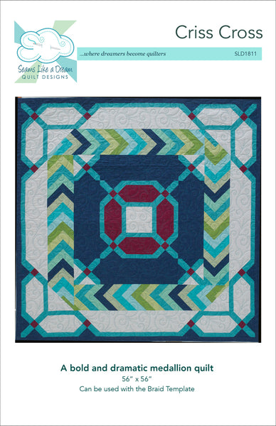 Criss Cross- quilt pattern with braid inner border