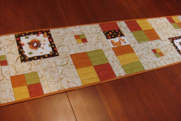 Row House- a Thanksgiving version of the table runner