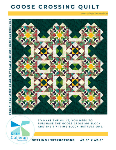 Goose Crossing Quilt Setting - PDF Download