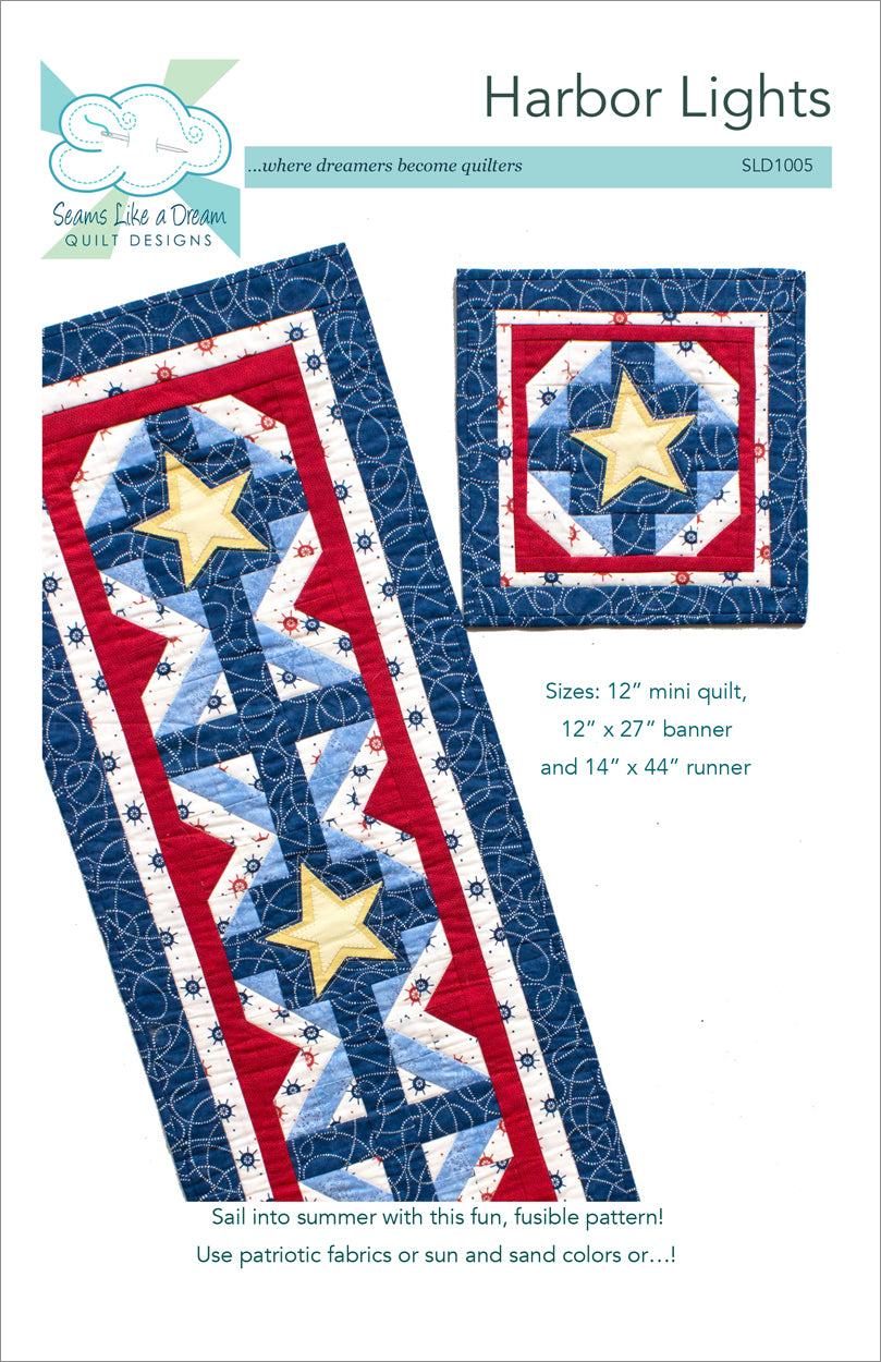 Harbor Lights quilt pattern cover
