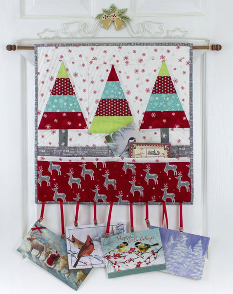 Tannenbaum Trio- Christmas Card Wall Hanging