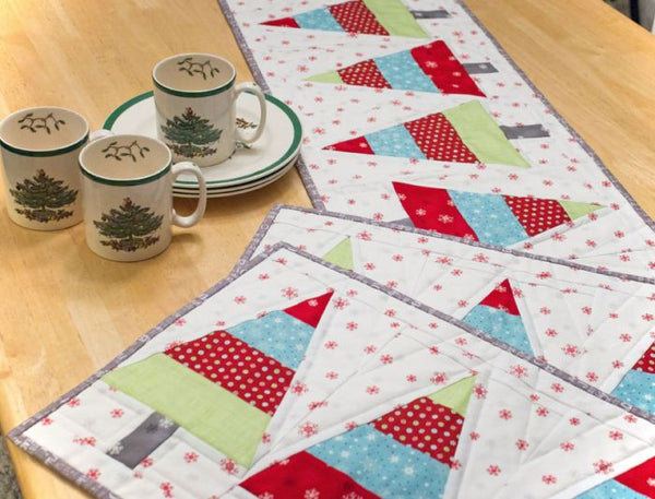Tannenbaum Trio - Christmas placemat and table runner pattern
