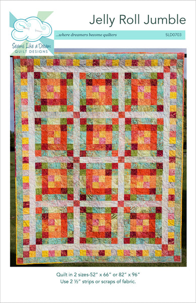Jelly Roll Jumble- an easy strip quilt pattern