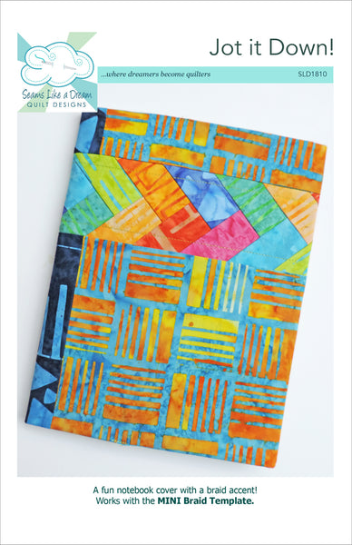 Jot it Down!- a quilted notebook cover with braid accent