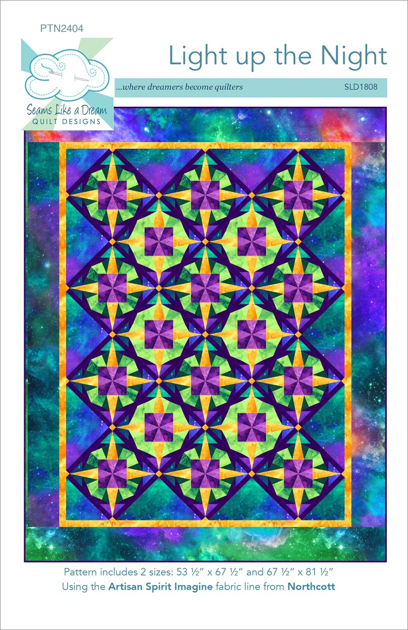 Light up the Night a paper pieced quilt pattern
