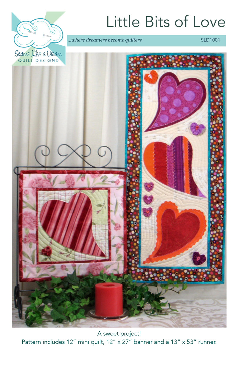 Little Bits of Love- an appliqué heart banner pattern