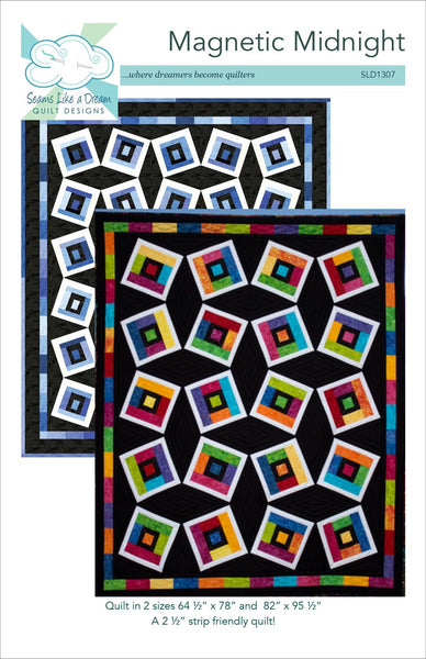 Magnetic Midnight strip quilt pattern