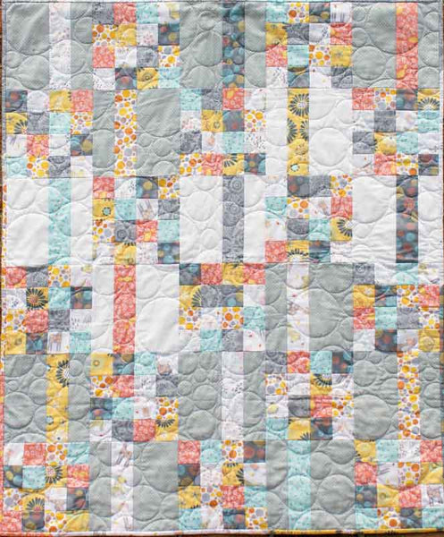 Meander- a fat quarter friendly Baby Quilt