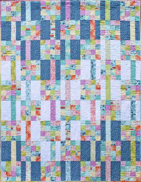 Meander - a fat quarter friendly quilt pattern designed by Kate Collleran