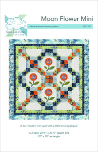 Moon Flower Mini quilt pattern cover