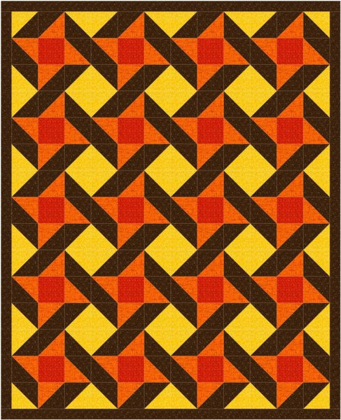 Urban Twist lap quilt in fall colors