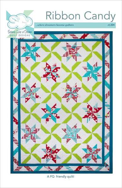 Ribbon Candy a fat quarter friendly quilt pattern