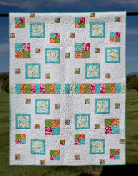 Row House  a modern quilt and table runner pattern