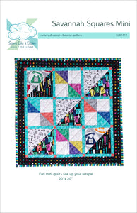 Savannah Squares Mini Quilt pattern cover