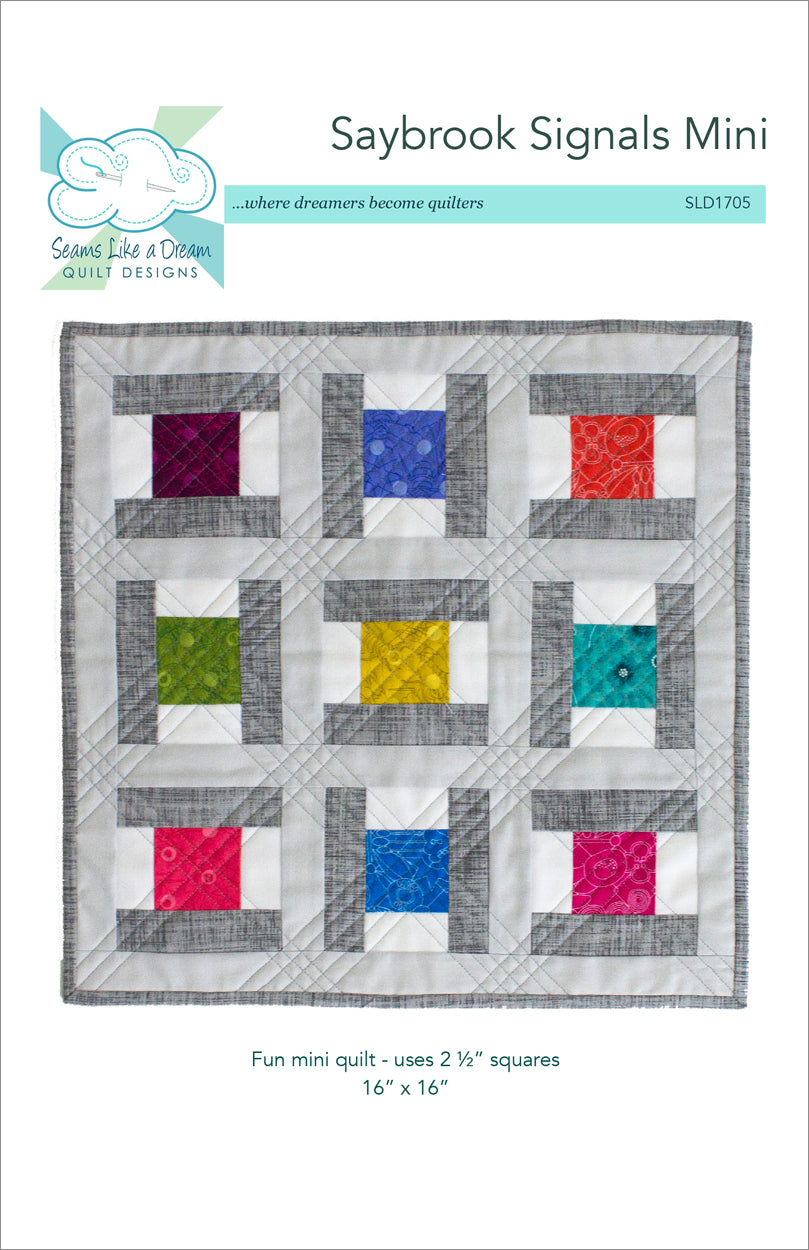 Saybrook Signals Mini quilt pattern cover