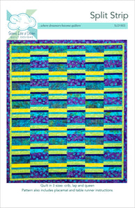 Spilt Strip- quilt pattern in 5 sizes