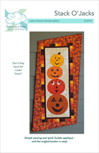 Stack O'Jacks- pumpkin wall hanging quilt