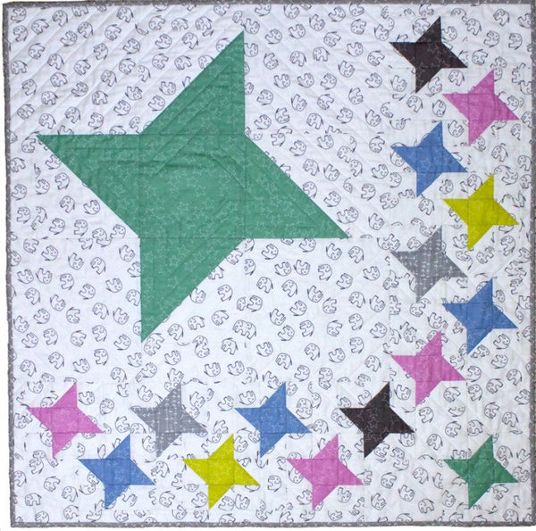 Stella wall quilt or baby quilt in Stella fabrics from Windam Fabrics