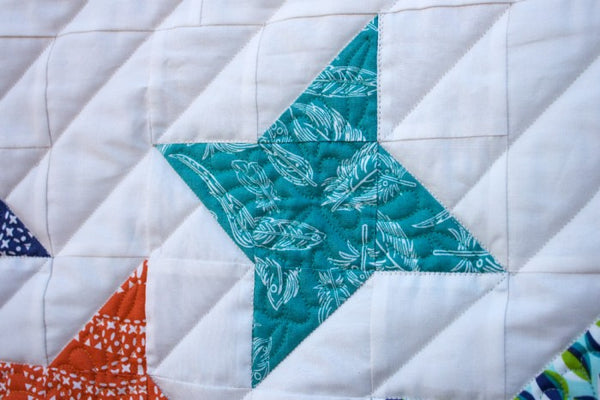 Stella- star wall quilt quilting