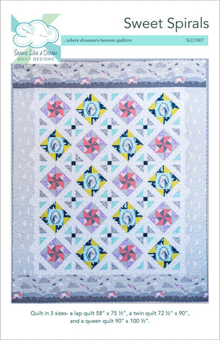 Sweet Spirals quilt pattern that uses border print