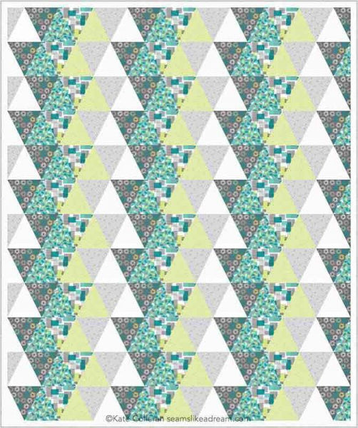 triangle quilt in green