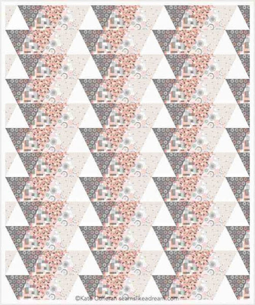 triangle quilt in pinks