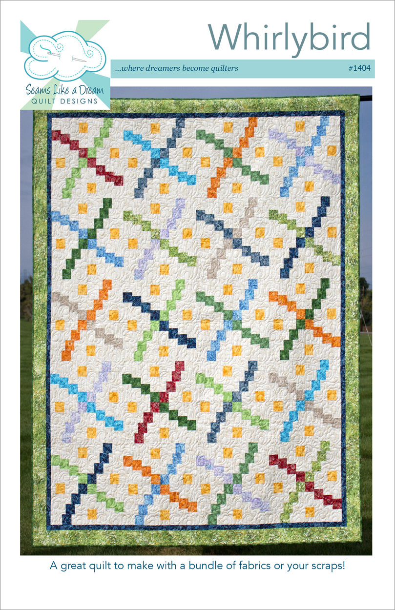 Whirlybird- a scrappy quilt pattern