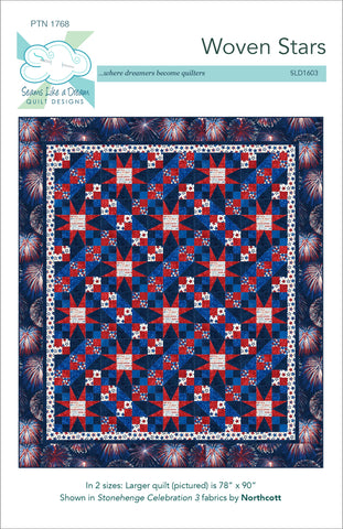Woven Stars- a pieced star quilt in two sizes