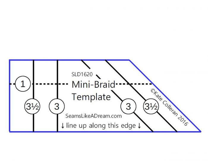 Mini Braid Template by Seams Like A Dream Quilt Designs