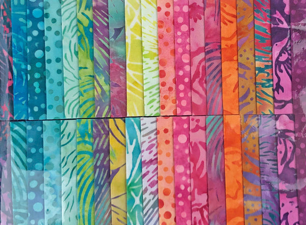 Strip Pack - Painted Blossoms by Island Batik