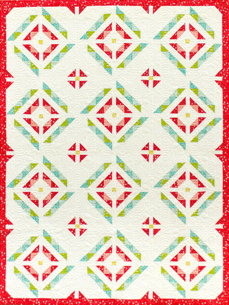Sweet Beets - quilt in red, white and green organic fabrics