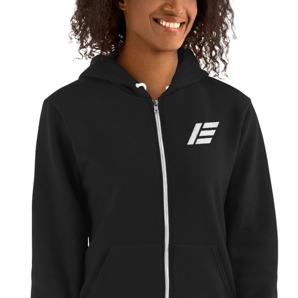 Etika Classic Logo Embroidered Zipper Hoodie - Hooded Sweatshirts
