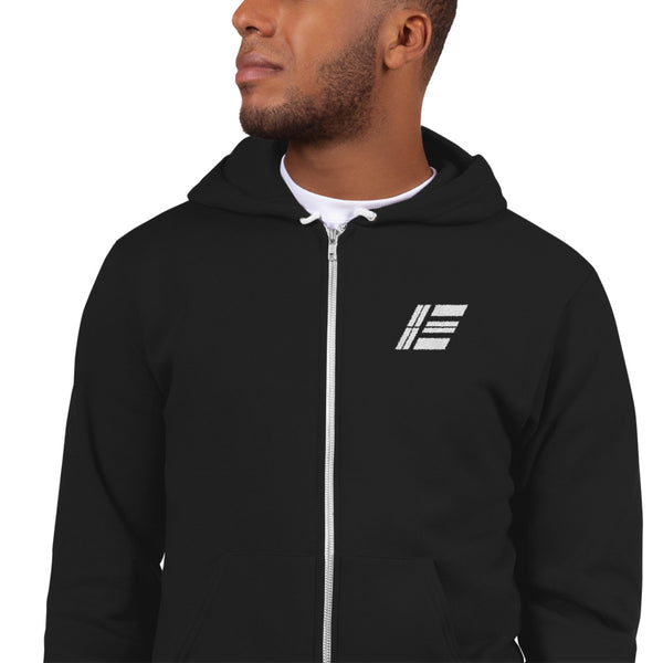 Etika Logo Embroidered Zipper Hoodie - Hooded Sweatshirts