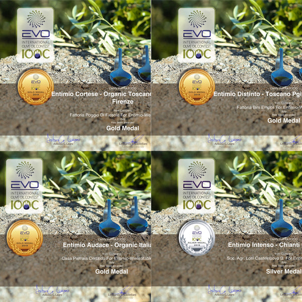A Stream of Gold Awards for Entimio Artisanal Olive Oils at the 2019 EVO IOOC