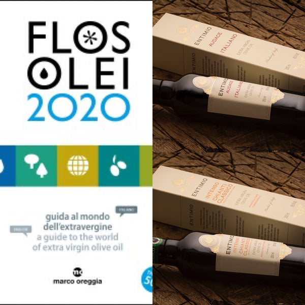 Flos Olei 2020 - Entimio Audace and Entimio Intenso Included in the Prestigious Italian EVOO Guide