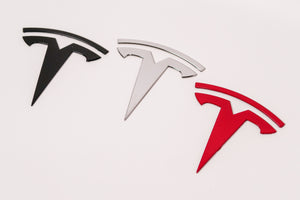 Custom Tesla Model 3 Emblems | PAINTED WITH OEM COLOR CODE