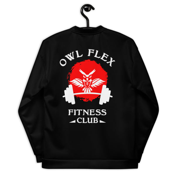 OWL FLEX FITNESS CLUB Unisex Bomber Jacket