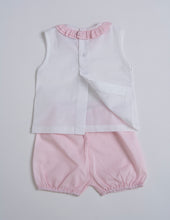 Load image into Gallery viewer, Cuclie Baby Two Piece Ruffle Set 100% Pima Cotton