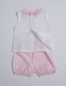 Cuclie Baby Two Piece Ruffle Set 100% Pima Cotton