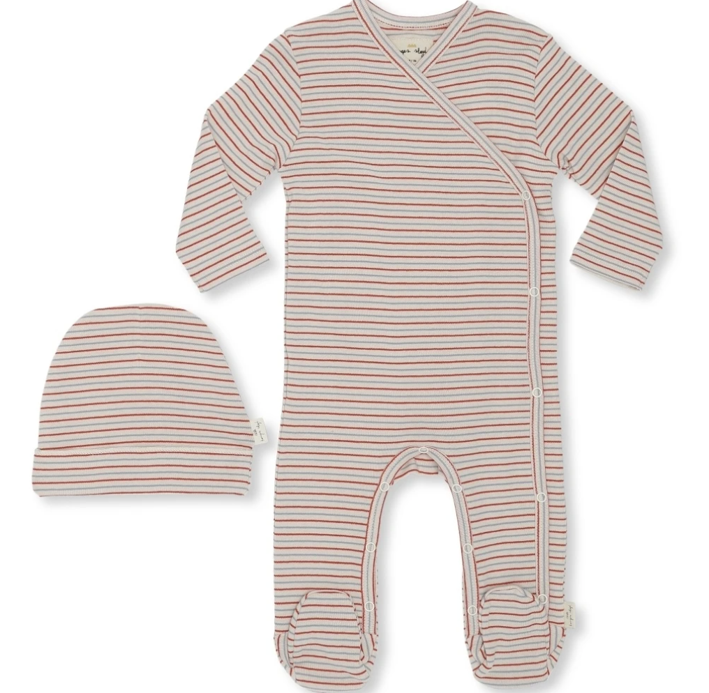 Konges Slojd Organic Dio Newborn Set Deux-Tricolore Stripes