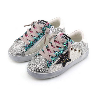 Lola & The Boys Star Girl Glitter Sneakers
