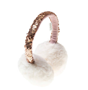 Rockahula Shimmer Sequin Band Earmuffs-Ivory