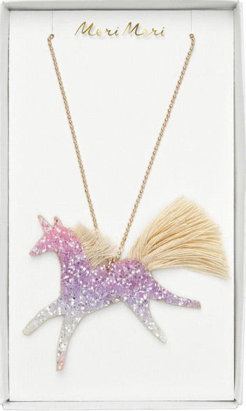 Meri Meri Ombré Glitter Unicorn Necklace