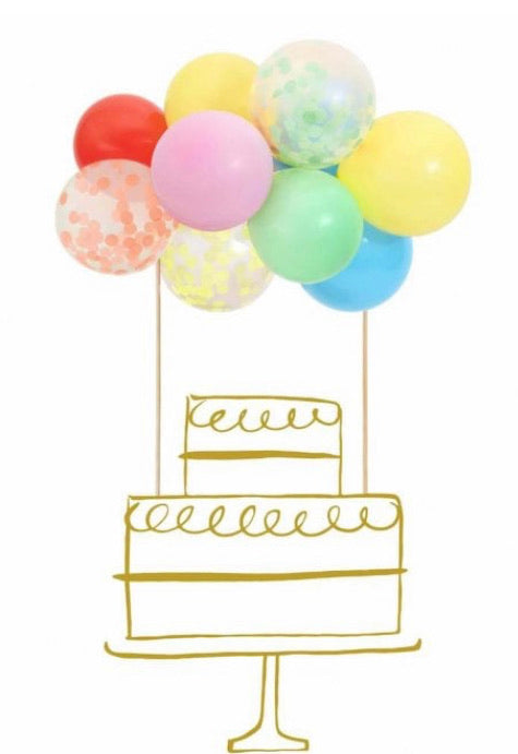 Meri Meri Rainbow Balloon Cake Topper Kit