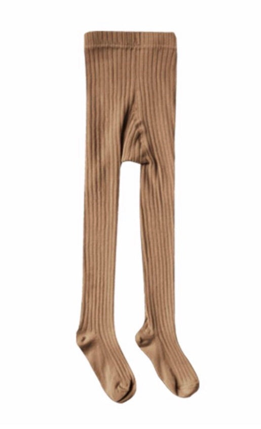 Rylee & Cru Caramel Solid Ribbed Tights